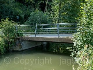 SIH550 Bridge over the Sihl Factory Canal, Zurich-Wollishofen, Canton of Zurich, Switzerland