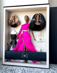 The Faces of Adele (doll_enthusiast) Tags: integrity toys it wclub fashion royalty fr fr2 adele makeda the faces giftset dolls doll collecting