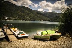 Sail Away (Alessandro Tamburro) Tags: gosia themayanfactor singing abruzzo lago scanno estate boats barche spiaggia nuvole clouds music vintage