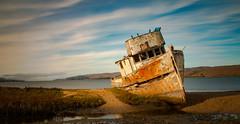 Point Reyes Wrack (Norbert Stening) Tags: kalifornien schiff ship boot water wrack pointreyes