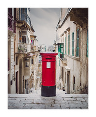 Post Box (ashtennisguru) Tags: building city cityscape texture valletta summer contrast travel d5100 seaside history architecture landscape nikon europe malta detail