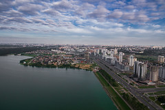 Minsk (free3yourmind) Tags: minsk aerial belarus city view above clouds cloudy day blue sky lake river reservoir buildings road avenue xiaomi mi drone quadcopter