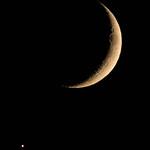 Venus approaching cresent moon - Seaside thumbnail