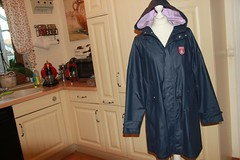 Derbe - raincoat (ShinyNylonFan) Tags: derbe raincoat hood