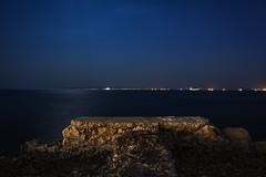 Night Seascape (panos_adgr) Tags: nikon d7200 long exposure night photogrphy tripod water sea rocks drapetsona attica greece colours stones motion low light