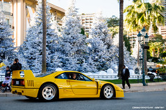 Ferrari F40 (Gaetan | www.carbonphoto.fr) Tags: ferrari f40 supercars hypercars cars auto automotive fast speed exotic luxury great incredible worldcars carbonphoto monaco monte carlo casino square french riviera amazing cavallino rosso giallo modena yellow