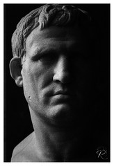 Marcus Vipsanius Agrippa (orichier) Tags: france paris louvre blackwhite ilford delta 3200 roman antiquity sculpture museum bust empire actium art