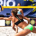 Reaching for beach volley ball thumbnail