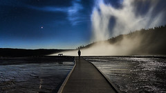 Grand Prismatic Spring at night (swissukue) Tags: grandprismaticspring yellowstonenp nightshot longermexposure usa wyoming sony a92 sonya9