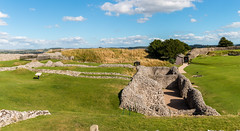 Old Sarum (Keith in Exeter) Tags: oldsarum castle palace ancient english heritage salisbury wiltshire england ruins stonework grass field archaeology historical landscape sky panorama vista tree