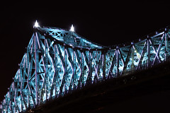 Pont Jacques Cartier, Montreal (Joe Charest) Tags: jaques cartier montreal architecture light show