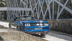 Ford Mustang (kdymkowski) Tags: ford mustang convertable american car automotive auto autos hotel architecture modern muscle speed power photography carphotography photo blue day sunny light back outdoor water luxury musclecar lights usa poland cars carspotting new newcar 2018