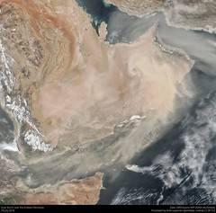 Dust Storm over the Arabian Peninsula