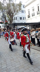 The Ceremony of the Keys to the Redoubt, Gibraltar (Dysartian) Tags: dysartian photographybydysartian gibraltar ceremonyofhandingoverthekeys tradition keystotheredoubt redcoats reenactors drums muskets fixedbayonets bayonets marching
