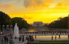 Lincoln Memorial (rashmou) Tags: lincolnmemorial lincoln memorial washington dc usa america afternoon golden evening monuments city travel traveler