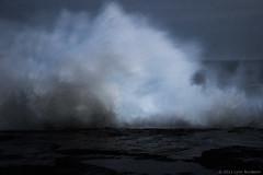 twilight series 2011  #3666 (lynnb's snaps) Tags: 2011 digital motionblur nature ocean waves coast colour rocks sydney australia breakingwave bluemood moody