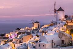 After the Sunset - Oia (arjunbhat1) Tags: sunset oia santorini citylights island skyline cityscape landscape greece