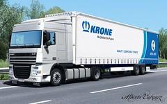 DAF XF 105 (Alberto Vasquez25) Tags: ets2 truck daf xf 105 360 spacecab plus 4x2 low deck krone mega liner road