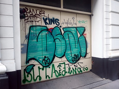 garage (Lackdosetoleranz) Tags: wien vienna lackdosetoleranz graffiti paintedwalls buchstaben letters garage tor bfs kwin bikini king buta zena te handstyles tags throwup writingonthewall