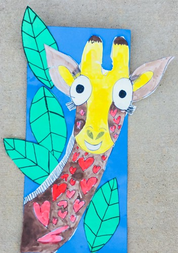 """1st grade African Giraffe Paintings #giraffe #drawing #painting #art #collage #1st #1stgrade #arteducation • <a style=""""font-size:0.8em;"""" href=""""http://www.flickr.com/photos/57802765@N07/43176831764/"""" target=""""_blank"""">View on Flickr</a>"""
