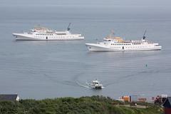 Helgoland: Seebäderschiffe FUNNY GIRL und FAIR LADY auf Reede (Helgoland01) Tags: helgoland nordsee deutschland germany schleswigholstein schiff passagierschiff ship
