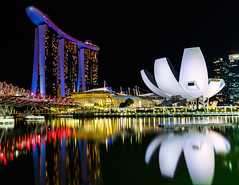 Lotus flower (Pipes070) Tags: architecture singapore water harbo night build dna bri sea ocean ref lotus city cityscape lights landscape light nikon long exposure longexp travel d850