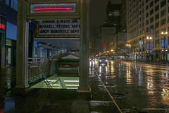 Red Line (Hello ChateauHo) Tags: chicago loop rain redline statestreet nightime