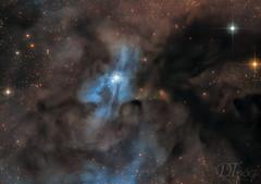 IC4603 - Blue Reflection Nebula (Delberson Tiago) Tags: cosmos astronomy astrophotography astrofoto astrofotografia astronomia astrophoto nasa nebulae nebulosa nightsky night nebula darknebula scorpius ophiuchi astrometrydotnet:id=nova2682977 astrometrydotnet:status=solved