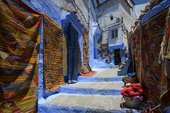 Carpet Exhibition (Darren Poun) Tags: chefchaouen morocco africa arabic arab moroccan traveling street nikon d800 d800e nikkor24mm f14 ngc