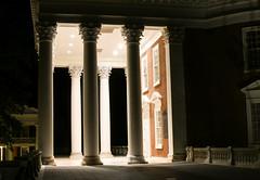 Jefferson's Rotunda (medwar804) Tags: rotunda building historic uva virginia jefferson old beautiful college university campus dome columns night light shadows