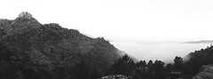 The best view comes after the hardest climb. (RuiFAFerreira) Tags: beauty bw black blended wide white canon efs24mmf28stm exterior fog landscape mood nature national portugal park panorama rocks monochromat monochrome mountains