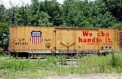 UP Class BI-70-7 492851 (Chuck Zeiler) Tags: up class bi707 492851 railroad boxcar freight car box cotter train chuckzeiler chz
