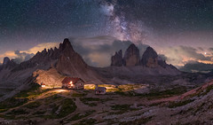 Milchstraße über den Drei Zinnen (19MilkyWay89) Tags: drei zinnen tre cime italy landscape night milky way milchstrase nightsky dark mountains sky himmel berg felsen rock landschaft nacht