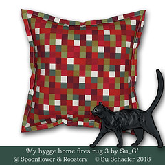 'My hygge home fires rug 3 by Su_G': flanged cushion mockup (Su_G) Tags: 2018 sug myhyggehomefiresrug3bysug flangedcushion mockup myhyggehomefiresrug3 myhyggehomefires hygge homefires rug3 blanket rug softfurnishing softfurnishings homedecor homefurnishing homefurnishings interiordecor decor hearth homeiswherethehearthis greenandred redandgreen spruce reds greens golds gold white multicolored multicoloured cat roostery spoonflower danish danishzen fire home winter warm warmth accent cushion pillow pillows cushions