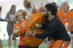 Oklahoma State Cowboys Football 101 for Women Event, Friday, July 27, 2018, Boone Pickens Stadium and Sherman Smith Training Center, Stillwater, OK.  Bruce Waterfield/OSU Athletics (OSUAthletics) Tags: 101 athetics cowboyfootball event fans football football101 football101forwomen osu women