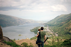 family, part four (manyfires) Tags: family love son child boy portrait peoplescape people film analog rowenacrest gorge columbiarivergorge oregon pnw pacificnorthwest hike hiking nwoutdoors michael photographer dad father toddler henry river columbiariver viewpoint landscape nikonf100 35mm