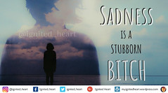 Sadness is a stubborn bitch (ignitedheart20) Tags: sadness thoughts feelings happiness deep quotes struggle