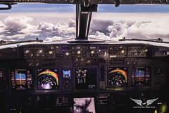Avoiding small cells at Flight Level 360 (gc232) Tags: boeing 737 cockpit storms cells cbs cb cumulonimbus sky fly pilots view avgeek aviation livefromtheflightdeck live from flight deck