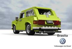 Volkswagen do Brasil Brasilia (lego911) Tags: vw volkswagen brazil brasil brasilia do 1973 south america hatch hatchback 3door 3dr auto car moc model miniland lego lego911 ldd render cad povray classic 1970s boxer pancake beetle