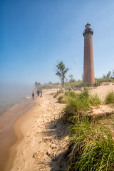 _DSC9546 Little Sable Point Lighthouse (Charles Bonham) Tags: silverlakesanddunes lakemichigan shore water littlesablepoint lighthouse sonyzeissfe1635mmf4 sony sonya7rll charlesbonhamphotography fog