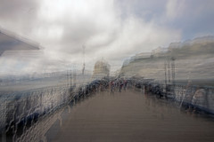 August day on the Pier (Gill Stafford) Tags: gillstafford gillys image photograph wales northwales conwy victorian pier architecture impressionism impressionist llandudno