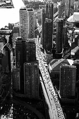 Ants On The Highway (BW) (Michael Muraz Photography Aerials) Tags: 2018 bw blackwhite canada northamerica ontario toronto world aerial aerialphotography helicopter monochrome ca