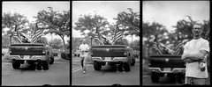 Patriot Truck Triptych 180806 #4, #5, #6 (jimhairphoto) Tags: america documentary portrait 1923 graflexrb pdx portland nw northwest oregon 4x5 film ilford fp4 blackandwhite blancetnoir schwarzeweiss blancoynegro blancinegre siyahrebeyaz jimhairphoto