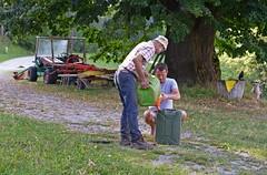 DIESEL (LitterART) Tags: farm bauer bauernhof diesel mähtruck steiermark österreich linde tree lime nikon nikond800 fx metrac