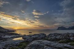 Julikveld ved Sandnes small (steinliland) Tags: lofoten islands coastline coastal landscape norway