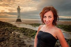Madzia (Mariusz Talarek) Tags: lighthouse mtphotography madzia merseyside newbrighton seaside beach enjoy fun girl goldenhour happy landscape polishgirl portrait sunset sunsetlight