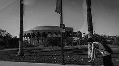 drive by 00646 (m.r. nelson) Tags: tempe arizona az america southwest usa mrnelson marknelson markinaz streetphotography urban urbanlandscape artphotography newtopographic documentaryphotography blackwhite bw monochrome blackandwhite