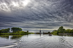 Take Him To The Bridge (Alfred Grupstra) Tags: river water reflection nature sky cloudsky outdoors canal landscape lake netherlands tree cloudscape scenics architecture summer environment bridgemanmadestructure snekermeer neteherlands nl