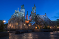 The Home of the Wizarding World (orlandobrothas) Tags: wwohp harrypotter wizardingworldofharrypotter orlando florida ioa islandsofadventure hogwarts bluehour nikond500 tamron universalorlandoresort