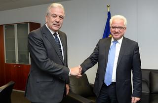 Συνάντηση ΥΔΔΤ κ. Ιωνά Νικολάου με τον Επίτροπο Μετανάστευσης, Εσωτερικών Υποθέσεων και Ιθαγένειας κ. Δημήτρη Αβραμόπουλο